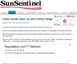 Sun Sentinel Mention